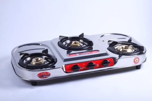 Steel Three Burner Gas Stove