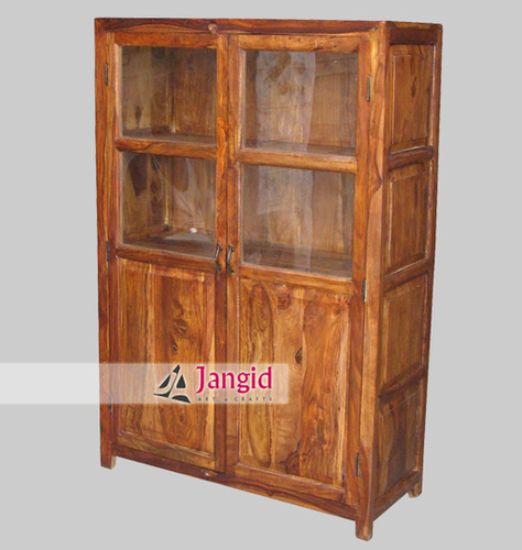 Indian Sheesham Wooden Display Cabinet