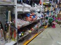 Wall Four Pole Racks With Basket Displaying