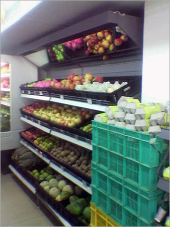 Cantilever Rack Super Markets Wall Rack For Fruits Vegetables Retail