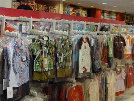 Cantilever Wall Rack Garment Rack Retail Store