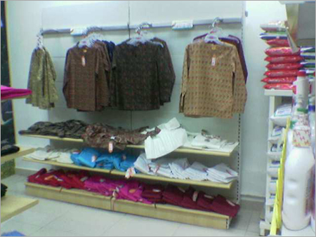 Cantilever Wall Wooden Display Rack Cloth Super Market Display Retail Stores