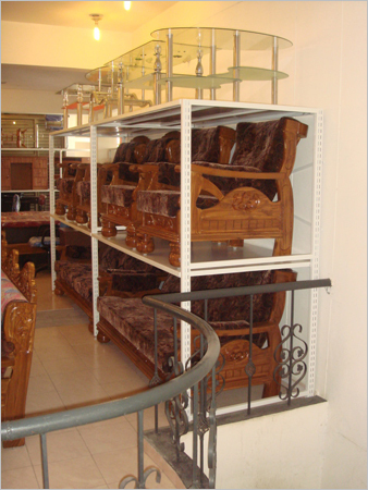 Four Pole Wall Display Furniture Racks