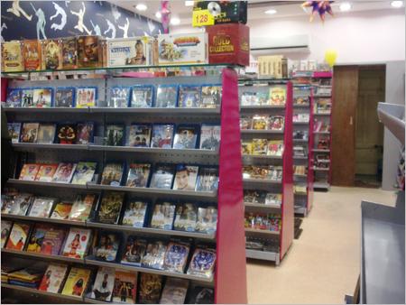 Super Market Cantilever Center Back To Back Display Books Cds Dvd Racks