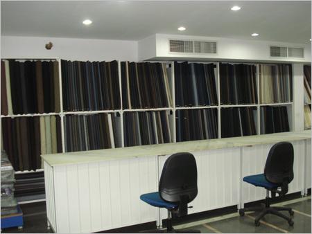 Four Pole Rack Fabric Rolls Cloth Sutings Shirting
