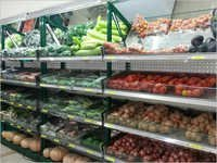 Four Pole Rack Super Markets Wall Racking System