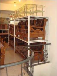 Four Pole Wall Display Furniture Racks