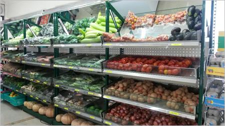 Super Market Four Pole Fruits Vegetable Racks
