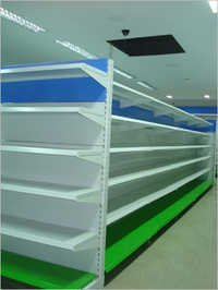 Super Market Cantilever Ms Center Back To Back Display Storage Rack