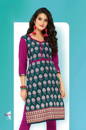 Sethnic new floral printed straight kurtis 4001-4020 catalog 20 pieces