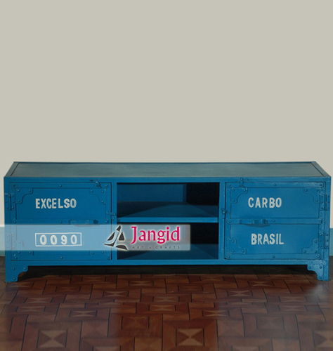 Industrial Metal Indian TV Cabinet