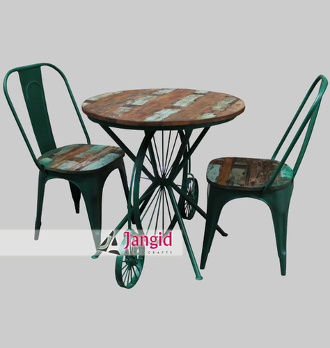 Indian Industrial Restaurant Dining Table Set