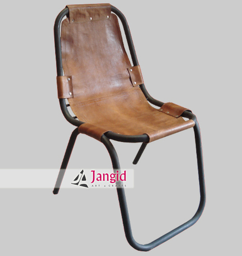 Industrial Metal Leather Chairs India