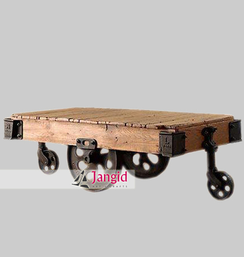 Indian Industrial Metal Cart Tables