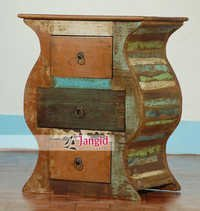 Indian Reclaimed Wooden Bedside Table