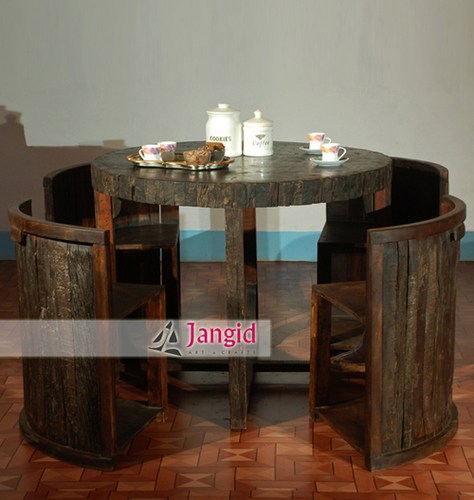 Indian Reclaimed Wooden Dining Table Set