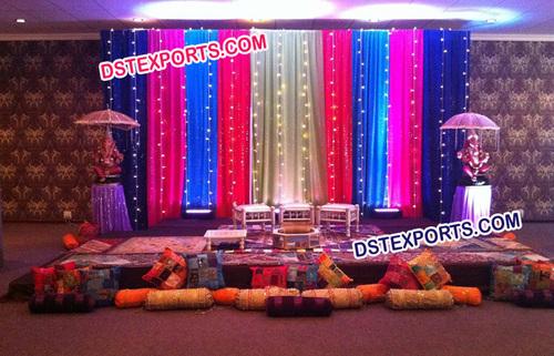 Mehandi Colourful Backdrops