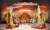 Wedding Wooden Swan Mandap Set