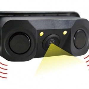 3in1 Car Visual Reversing Night Vision Backup Parking Sensor CCD Camera.