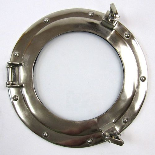Porthole Window Glass Aluminum Chrome