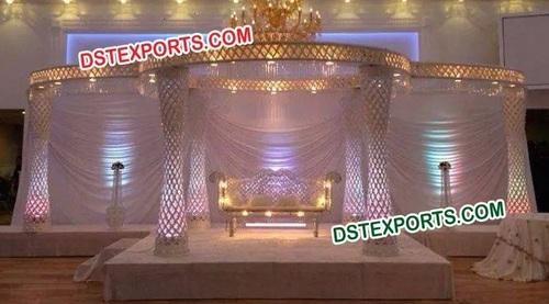 Wedding LED Lighted Crystal Mandap