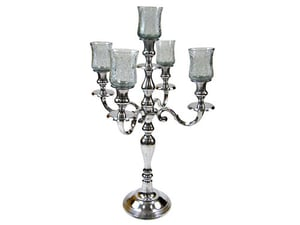 """24"""" Candle Stand 5-branch w Chimney"""