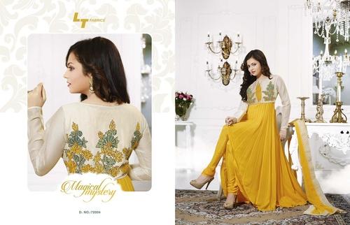 Yellow Colur Anarkali Suit