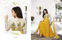 Yellow Colur Anarkali Suit