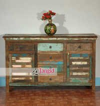 Indian Reclaimed Wooden Sideboard Design