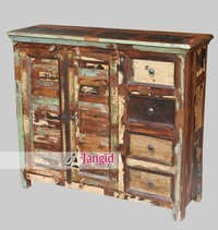 Indian Recycled Wooden Sideboard