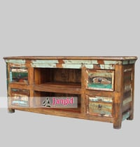 Recycled Wooden Indian TV Stands