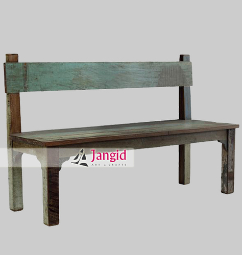 Indian Reclaimed Wood Outdoor Bench