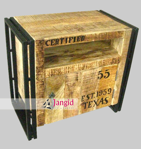 Iron and Rough Mango Wood Industrial Furniture