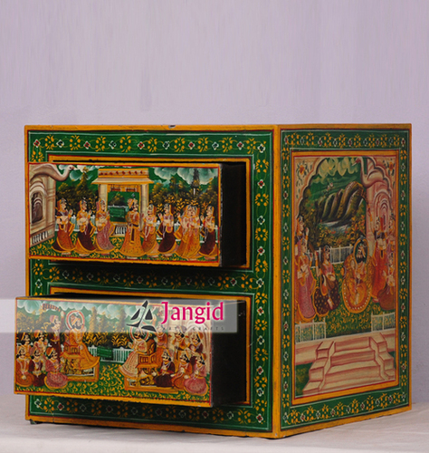 Wooden Painted Bedside Table India