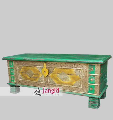 Indian Distressed Wooden Painted Furniture