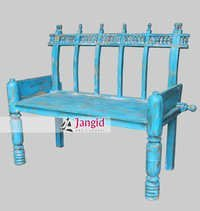 Indian Distressed Wooden Bench