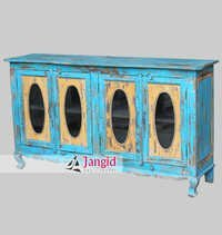 Indian Wooden Shabby Chic Sideboard Cabinets