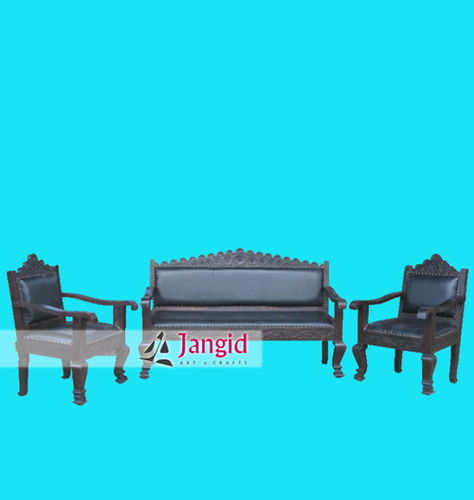 Mango Wooden Retro Style Indian Sofa Set