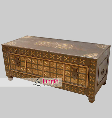 Indian Wooden Vintage Look Storage Box