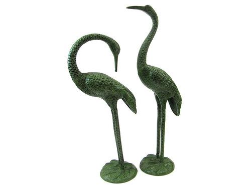 Crane Pair, Life Size (Green)