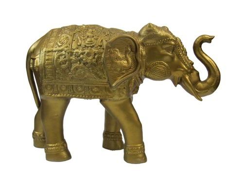 Ambari Elephant w Brass Finish