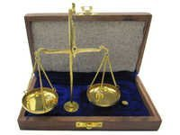Gold Scale 10 Gram Wood Box Velvet Line