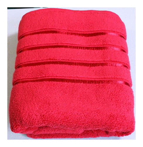 Aqua Red Bath Towel