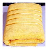 Aqua Yellow Bath Towel