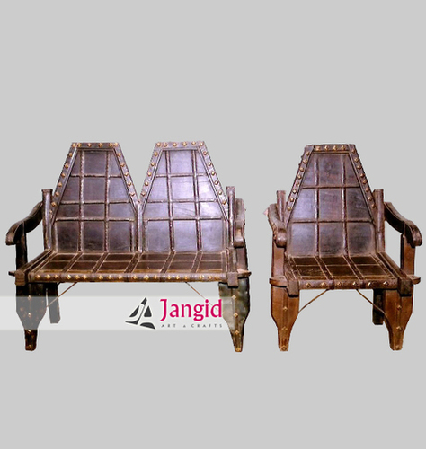 Indian Wooden Traditional Cart Cafeteria Furniture