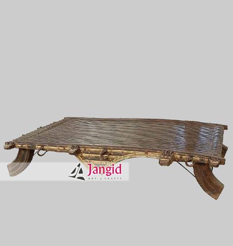 Indian Antique Buffalo Cart Coffee Table