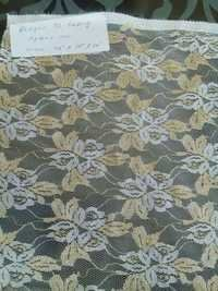 Tesab Zari Raschel Net Fabric