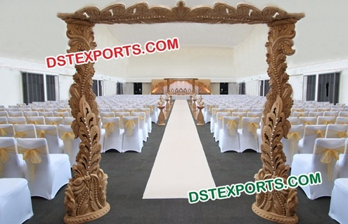 Wedding Stylish Wooden Welcome Gate