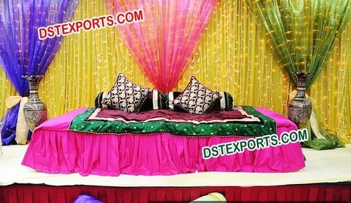 Wedding Mehandi Stage Backdrop Curtains