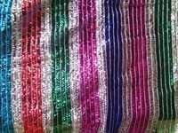 Rainbow zari duptta net fabric
